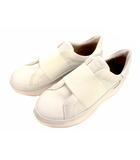 アグ UGG スニーカー シューズ スリッポン 靴 レザー 革 LIBU TRAINER リブ トレーナー 1106621 白 ホワイト サイズ23cm