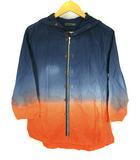 パルムドール Palme d'Or トップス シャツパーカー パーカー 羽織り コットン ジップアップ グラデーション フード 七分袖 ネイビー オレンジ M