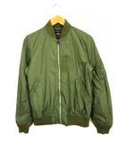 アルファ ALPHA MA-1 ブルゾン ジャケット 上着 アウター ジップアップ ナイロン TA1002-003 緑 グリーン M