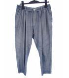 ブルーブルー BLUE BLUE テーパード パンツ 綿 コットン タック アンクル クロップド インディゴ サイズ1