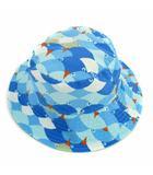 パタゴニア Patagonia ベビー サン バケットハット 帽子 リバーシブル チンストラップ ブルー系 グリーン系 S 6-18M 男の子