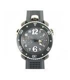 マヌアーレ クロノスポーツ 45MM 腕時計 クォーツ ウォッチ 3針 ラバーベルト 7013 グレー系 ホワイト