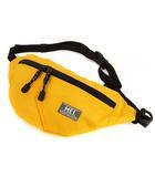 ボディバッグ ウエストポーチ 鞄 カバン 斜め掛け リサイクルナイロン ロゴパッチ イエロー 黄