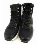 センスオブプレイス バイ アーバンリサーチ Sense of Place by Urban Research スニーカーブーツ ショートブーツ 靴 シューズ 合皮 フェイクレザー レースアップ ブラック系 黒 白 M