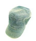 ニューエラ NEW ERA ソフネット SOPHNET ワークキャップ 帽子 デニム ワンポイント ライトブルー 7 3/8