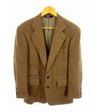 テーラードジャケット ブレザー ツイード ウール 起毛 総裏 2ボタン 日本製 ブラウン系 茶系 サイズA5
