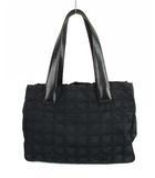 シャネル CHANEL ニュートラベルラインPM トートバッグ ハンドバッグ かばん 鞄 ナイロンキャンバス レザー ロゴ 黒 ブラック ★AA☆