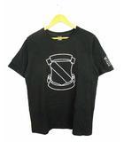 ナンバーナイン NUMBER (N)INE トップス Tシャツ 半袖 エンブレム プリント コットン 黒 ブラック 4