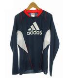 アディダス adidas スポーツウェア トレーニングウェア トップス サッカー フットサルシャツ ジャージ プリント ネイビー オレンジ 紺 S
