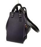 ロエベ LOEWE ハンモック ミディアム ソフトグレインカーフスキン 牛革 ハンドバッグ ショルダーバッグ 2WAY かばん 鞄 ミッドナイトブルー 黒