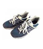 ニューバランス NEW BALANCE スニーカー シューズ 靴 スエード メッシュ ML574VN ネイビー 紺 サイズ27cm