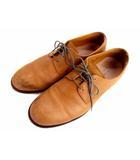 グリーンレーベルリラクシング ユナイテッドアローズ green label relaxing レザー シューズ 革靴 プレーントゥ mckay method 日本製 ブラウン 茶 サイズ42