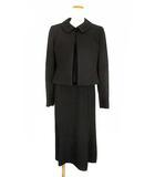 ブロドール BRODEUR セットアップ 上下セット ジャケット 半袖 ワンピース ブラックフォーマル コサージュ付き 喪服 礼服 黒 9