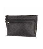 コーチ COACH シグネチャー セカンドバッグ クラッチバッグ かばん 鞄 PVC F39763 ブラック系 グレー系