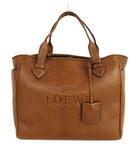 ロエベ LOEWE ヘリテージ トートバッグ ハンドバッグ かばん 鞄 レザー ロゴ 型押し ブラウン 茶