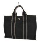 エルメス HERMES フールトゥPM トートバッグ ハンドバッグ かばん 鞄 キャンバス ブラック グレー
