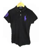 トップス ポロシャツ 鹿の子 ビッグポニー ワンポイント THE SKINNY POLO 半袖 ブラック 黒 M