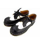 ドクターマーチン DR.MARTENS ブローグシューズ レザーシューズ ウイングチップ 3989 10458001 革 靴 BROGUE SHOE BROGUE BEX 黒 白 ブラック ホワイト サイズUK3