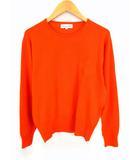 クリスチャン ディオール スポーツ Christian Dior SPORTS 長袖 ニット セーター ウール 刺繍 オレンジ サイズM