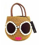 アジョリー a-jolie かごバッグ ハンドバッグ かばん 鞄 パールサングラス SI-1806 ブラウン 茶