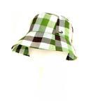 クロコダイル CROCODILE 帽子 ハット バケットハット チェック コットン グリーン S