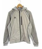 ゴルフウェア リブフリース ジャケット 上着 ジップアップ フード N56318 グレー L/G