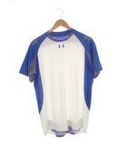 アンダーアーマー UNDER ARMOUR トップス カットソー Tシャツ スポーツウェア トレーニングウェア メッシュ切り替え 半袖 ブルー ホワイト 青 白 LG