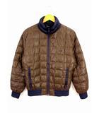 フレッドペリー FRED PERRY ダウンジャケット ライトダウン スタンドカラー キルティング ブルゾン ジップアップ ナイロン ワンポイント刺繍 ブラウン ネイビー サイズL F2170