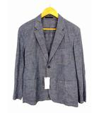 ユニクロ UNIQLO ライトウェイトジャケット(シャンブレー) 311-426042 テーラードジャケット 綿 コットン 青 ブルー サイズS タグ付き