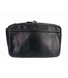 ダックス DAKS セカンドバッグ クラッチバッグ レザー 革 鞄 カバン 黒 ブラック