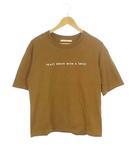 レディラックルカ LADY LUCK LUCA トップス カットソー Tシャツ 半袖 文字 ロゴ コットン ブラウン  茶
