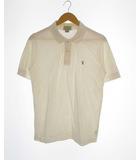 トラサルディ TRUSSARDI トップス カットソー ポロシャツ 半袖 ロゴ コットン ホワイト 白 S