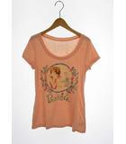 バービー Barbie トップス カットソー Tシャツ 半袖 プリント コットン ピンク M
