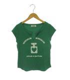 ミニマム MINIMUM トップス カットソー Tシャツ 半袖 ロゴ プリント コットン グリーン 緑