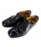 ア・テストーニ a.testoni レザーシューズ ドレスシューズ ビジネスシューズ 革靴 Uチップ 外羽根 黒 ブラック 5.5G イタリア製