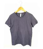 プリット prit トップス カットソー Tシャツ 半袖 コットン 無地 紫 パープル 1