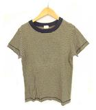 プリット prit トップス Tシャツ カットソー 半袖 ボーダー コットン ベージュ ネイビー 紺 1