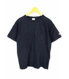 チャンピオン CHAMPION 半袖 Tシャツ カットソー ポケット 無地 T1011 クルーネック 紺 ネイビー サイズM USA製