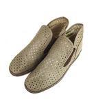 ディッシィー D'ICI シューズ ブーティ 靴 パンチング レザー 天然皮革 サイドゴア グレージュ系 22.5cm