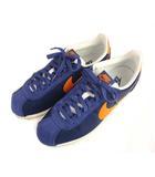 ナイキ NIKE CLASSIC CORTEZ NYLON クラシック コルテッツ ナイロン スニーカー シューズ 靴 807472-483 紺 ネイビー オレンジ 26cm
