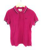 アーノルドパーマー Arnold Palmer トップス ポロシャツ 半袖 鹿の子 ロゴ刺繍 ワンポイント ライン スリット コットン 綿 パープル 紫 ホワイト 白 ネイビー 紺 3