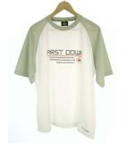 ファーストダウン FIRST DOWN セットアップ 上下セット スポーツウェア トレーニングウェア Tシャツ ハーフパンツ メッシュ ロゴ プリント 半袖 白 グレー 黒 2L
