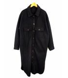 アントマリーズ Aunt Marie's メルトンCPOロングシャツアウター AMZAM1019006 シャツコート 長袖 無地 黒 ブラック サイズFREE