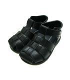 バーバリー BURBERRY 靴 シューズ グルカサンダル マジックテープ 無地 フェイクレザー 合成皮革 ブラック 黒 16.0EE 子供靴