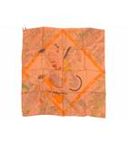 エルメス HERMES スカーフ カレ90 エルメスの職人たち Les Artisans d Hermes シルク テラコッタ タグ付き