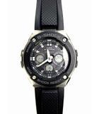 Gショック 腕時計 ウォッチ GST-W300-1AJF G-STEEL Gスチール デジアナ アナデジ タフソーラー 電波 ラバーベルト ブラック 黒 シルバー