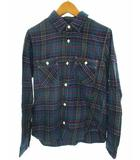 リー LEE トップス カジュアルシャツ チェック ダブルポケット コットン 長袖 89644 ブルー グリーン レッド M