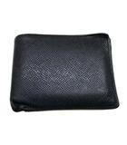 タイガ ポルトフォイユ ミュルティプル 財布 ウォレット 二つ折り 折りたたみ コンパクト ロゴ カード入れ レザー 革 M32808 ブラック 黒