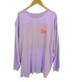 ペイズリー L/S Tシャツ 長袖 カットソー ロンT プリント 刺繍 420ESI90-0170 パープル 紫 サイズFREE