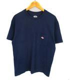 トップス カットソー Tシャツ 半袖 ワンポイント ロゴ ポケット コットン 綿 16S-HS-002 ネイビー 紺 サイズ36